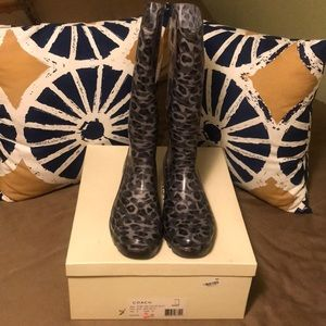 NWT! Coach rain boots